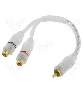 Y-RCA stereo cable.
