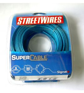 StreetWires cables for speakers (1.3 mm²).
