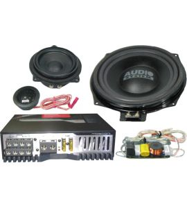 BMW 3,5 series (E60, E90) amplifier & subwoofer installation kit.