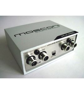 High level speaker signal to Low level RCA adapter (4-channel). Mosconi Gladen HLA-PRO.
