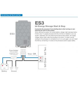 Audison ES3 bit energy storage for cars with Start & Stop systems.