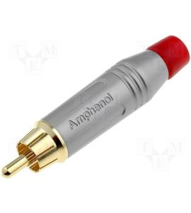 Amphernol RCA plug (Red).