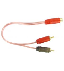 RCA Y-cable (0.28 m.) Connects 2