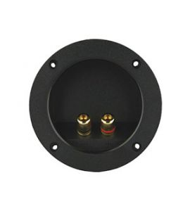 Loudspeaker terminal for plug-in connection.