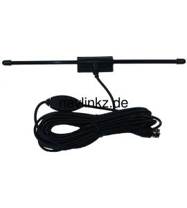 Universal car TV antenna (DVB-T, active, 5 volt) ANT12