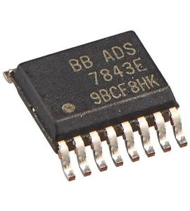 ADS7843e  Analog-to-Digital converter.