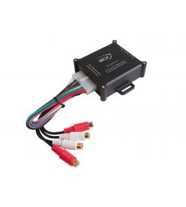 High level speaker signal to Low level RCA adapter with REMOTE (4-channel). ACV