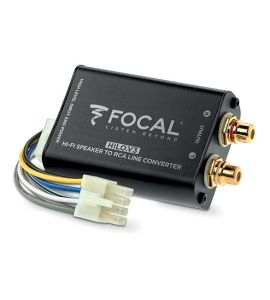 High level speaker signal to Low level RCA adapter (2-channel). Focal Hilo V3.