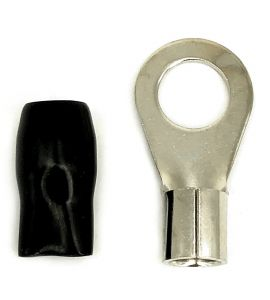 Ring terminal for cable. Gladen (Black, 20 mm²).