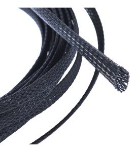 Expandable braided cable sleeving (Black, 12.0 mm).