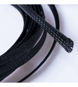 Expandable braided cable sleeving (25.0 mm).