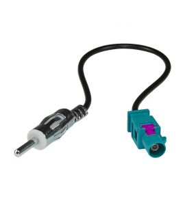 Seat, Audi, Fiat, Mercedes, VW... antenna adapter (DIN connector). GOLFV-DIN.